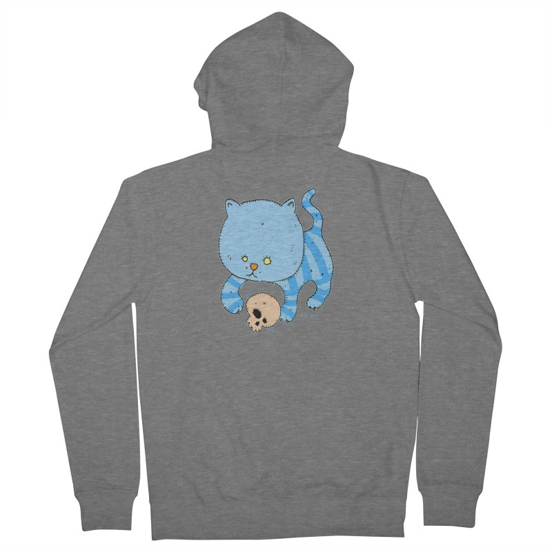 Cat and Skull Men's Zip-Up Hoody by Bad Otis Link's Artist Shop