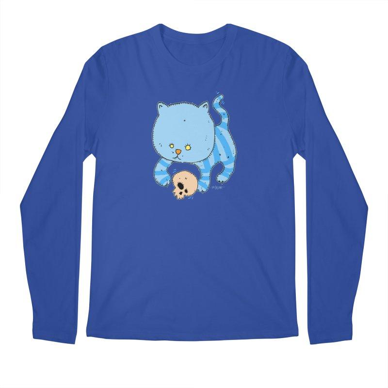 Cat and Skull Men's Longsleeve T-Shirt by Bad Otis Link's Artist Shop