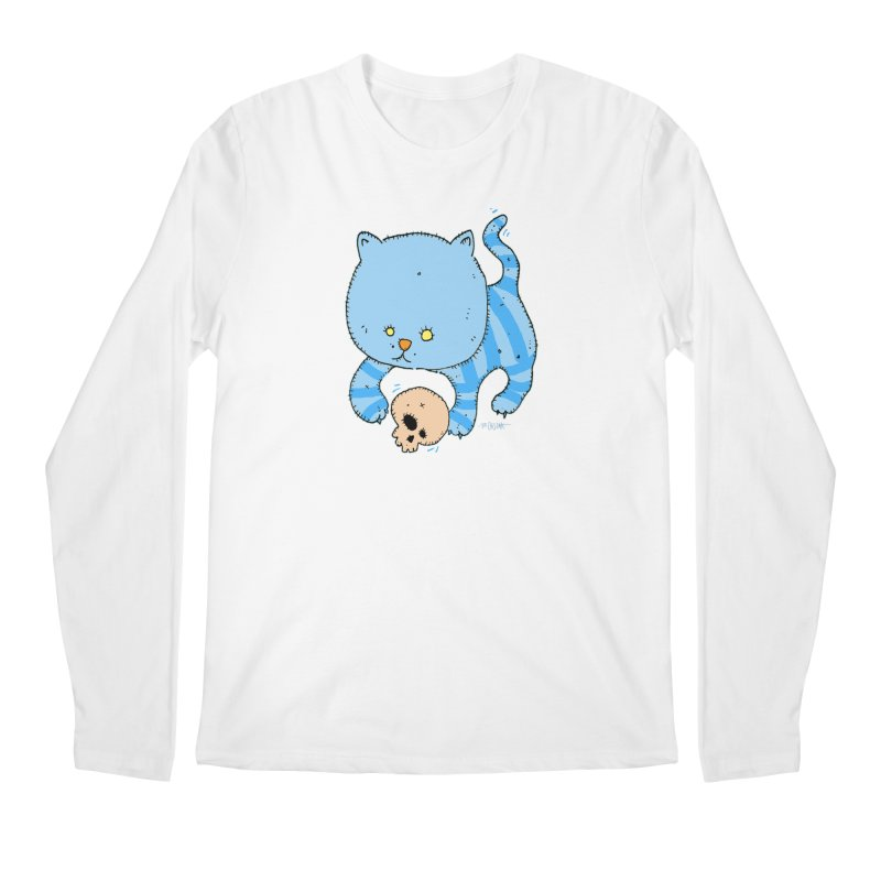 Cat and Skull Men's Longsleeve T-Shirt by Bad Otis Link's Artist Shop