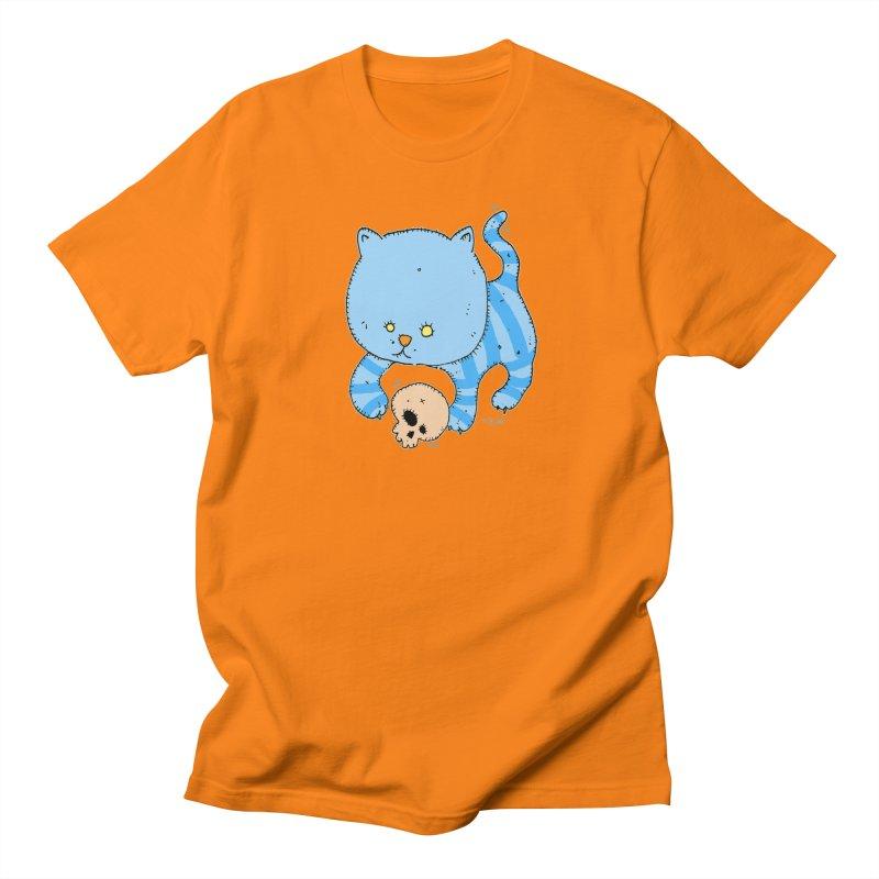 Cat and Skull Women's Regular Unisex T-Shirt by Bad Otis Link's Artist Shop