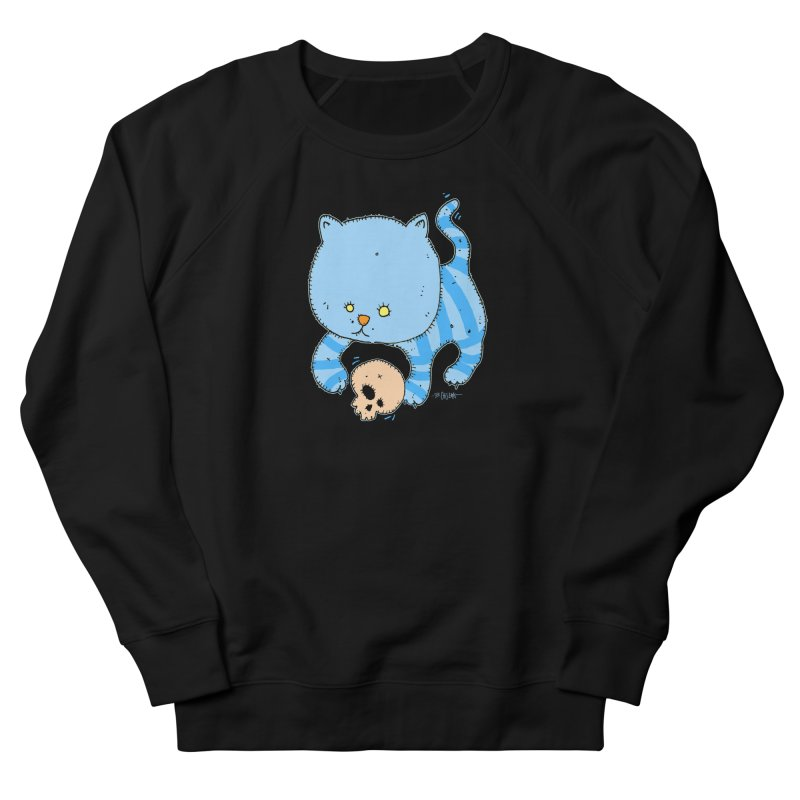Cat and Skull Women's French Terry Sweatshirt by Bad Otis Link's Artist Shop