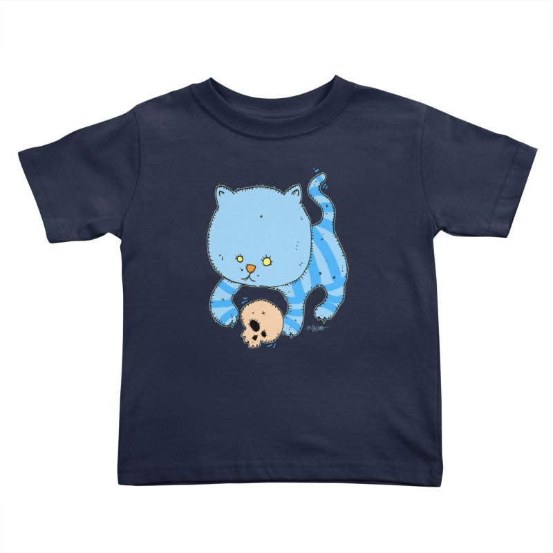 Cat and Skull Kids Toddler T-Shirt by Bad Otis Link's Artist Shop