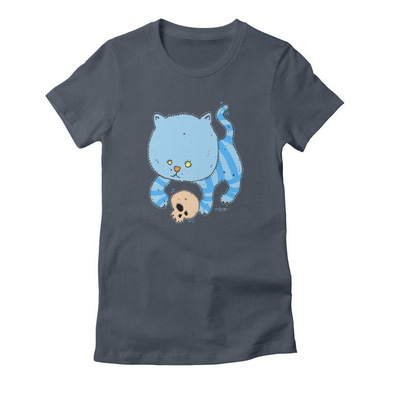 Cat and Skull Women's T-Shirt by Bad Otis Link's Artist Shop