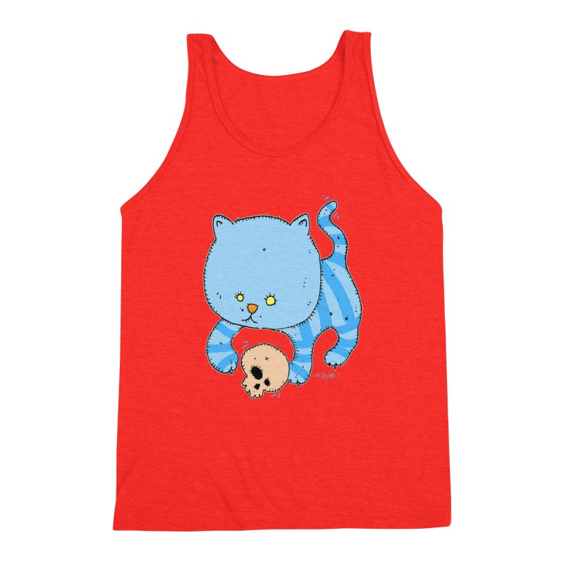 Cat and Skull Men's Tank by Bad Otis Link's Artist Shop