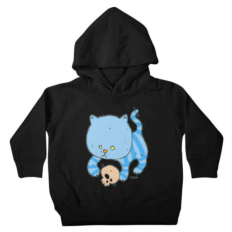 Cat and Skull Kids Toddler Pullover Hoody by Bad Otis Link's Artist Shop