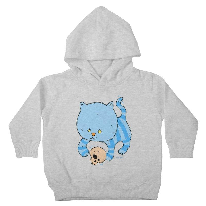 Cat and Skull Kids Toddler Pullover Hoody by Bad Otis Link's Artist Shop