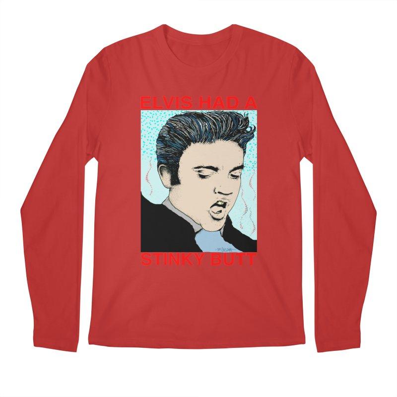Elvis Had a Stinky Butt Men's Regular Longsleeve T-Shirt by Bad Otis Link's Artist Shop