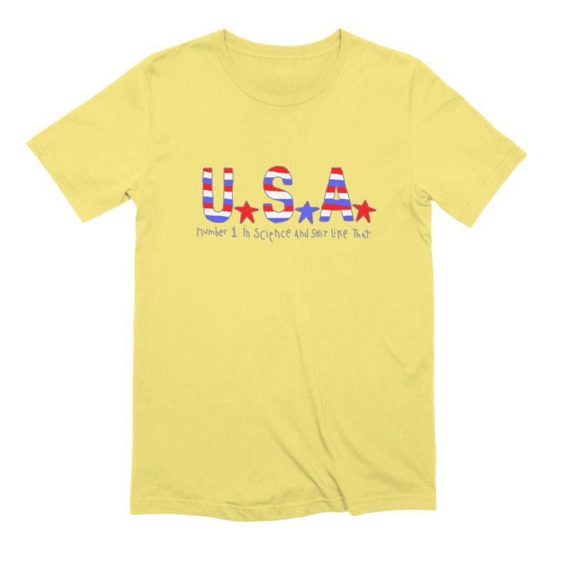 Go USA Men's Extra Soft T-Shirt by Bad Otis Link's Artist Shop