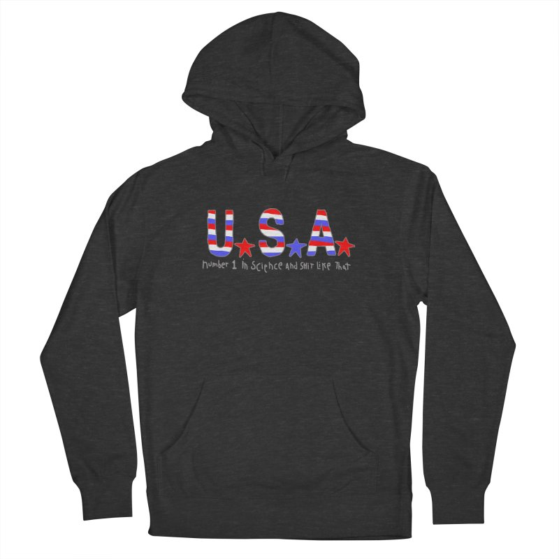 Go USA Men's French Terry Pullover Hoody by Bad Otis Link's Artist Shop