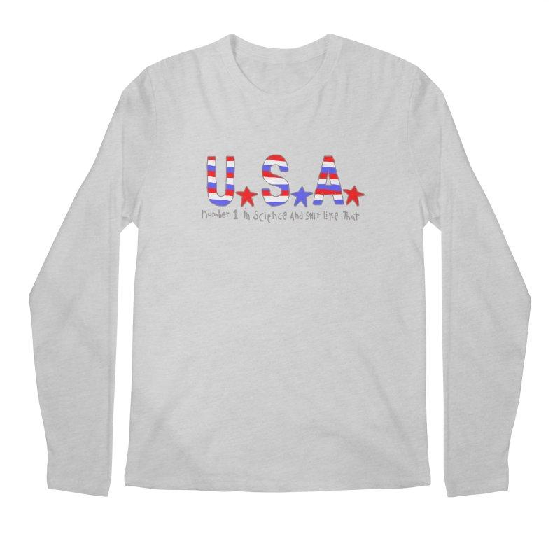 Go USA Men's Regular Longsleeve T-Shirt by Bad Otis Link's Artist Shop