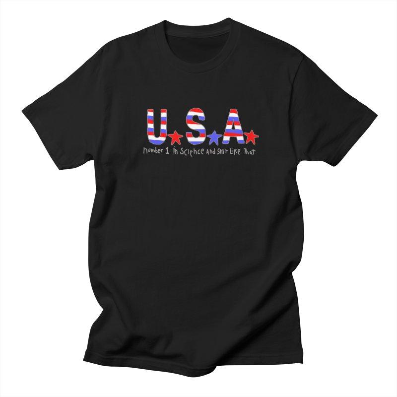 Go USA Men's Regular T-Shirt by Bad Otis Link's Artist Shop