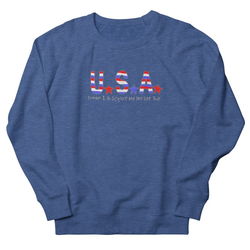 Go USA Men's French Terry Sweatshirt by Bad Otis Link's Artist Shop