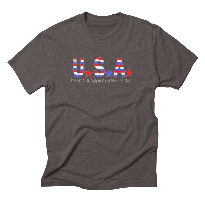 Go USA Men's Triblend T-Shirt by Bad Otis Link's Artist Shop