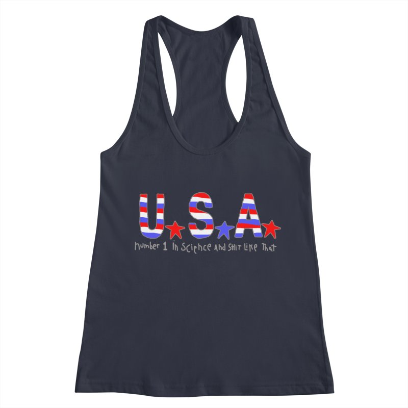 Go USA Women's Racerback Tank by Bad Otis Link's Artist Shop