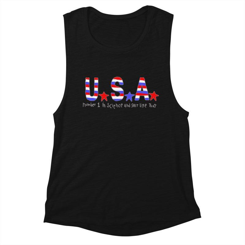Go USA Women's Muscle Tank by Bad Otis Link's Artist Shop
