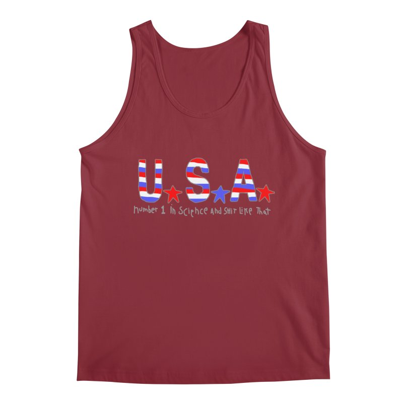 Go USA Men's Regular Tank by Bad Otis Link's Artist Shop