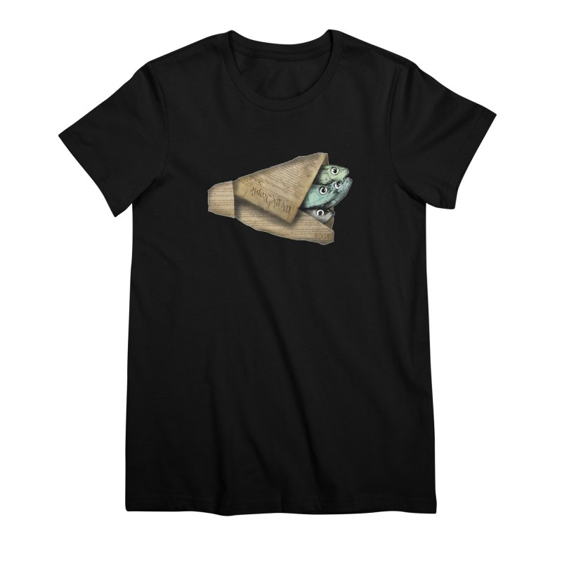 Dead fish wrapped in the constitution Women's Premium T-Shirt by Bad Otis Link's Artist Shop