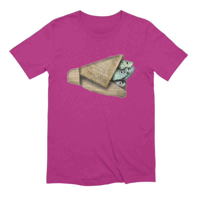 Dead fish wrapped in the constitution Men's T-Shirt by Bad Otis Link's Artist Shop