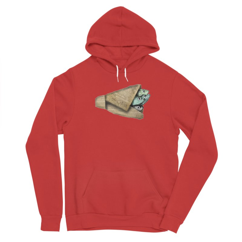 Dead fish wrapped in the constitution Women's Pullover Hoody by Bad Otis Link's Artist Shop