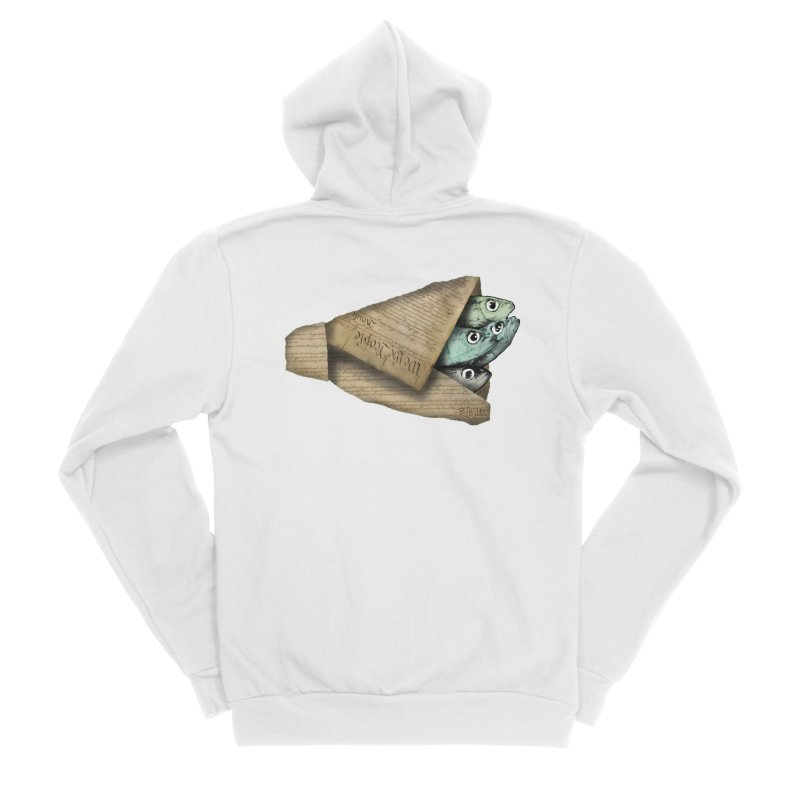 Dead fish wrapped in the constitution Women's Sponge Fleece Zip-Up Hoody by Bad Otis Link's Artist Shop