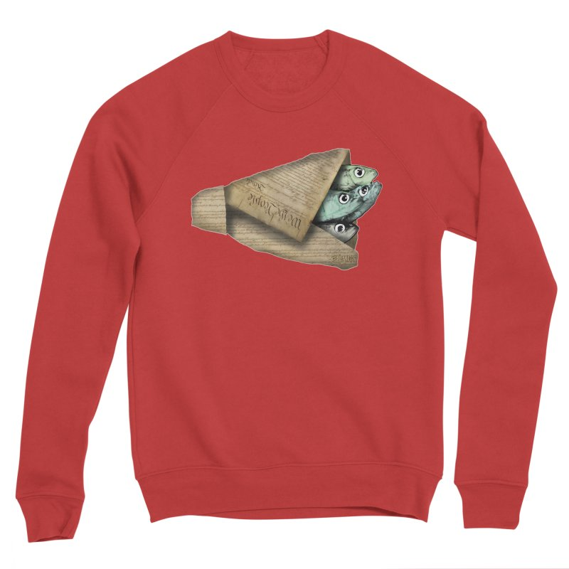 Dead fish wrapped in the constitution Women's Sponge Fleece Sweatshirt by Bad Otis Link's Artist Shop
