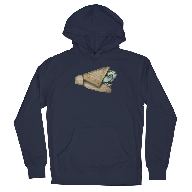 Dead fish wrapped in the constitution Men's Pullover Hoody by Bad Otis Link's Artist Shop