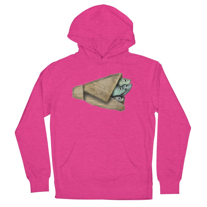 Dead fish wrapped in the constitution Men's French Terry Pullover Hoody by Bad Otis Link's Artist Shop