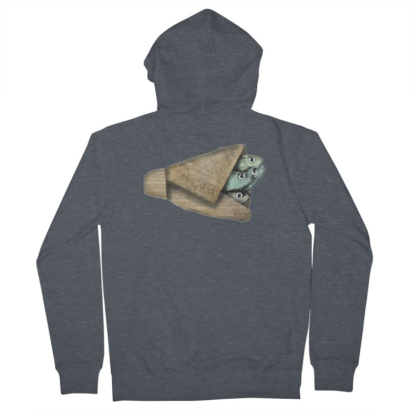 Dead fish wrapped in the constitution Men's Zip-Up Hoody by Bad Otis Link's Artist Shop