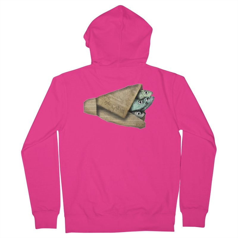 Dead fish wrapped in the constitution Men's French Terry Zip-Up Hoody by Bad Otis Link's Artist Shop