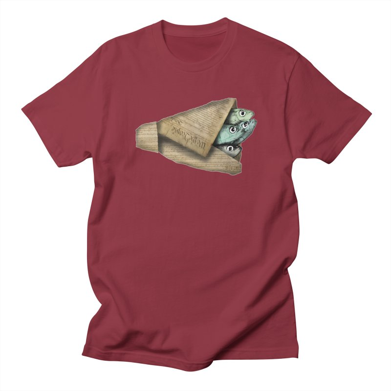 Dead fish wrapped in the constitution Women's Regular Unisex T-Shirt by Bad Otis Link's Artist Shop