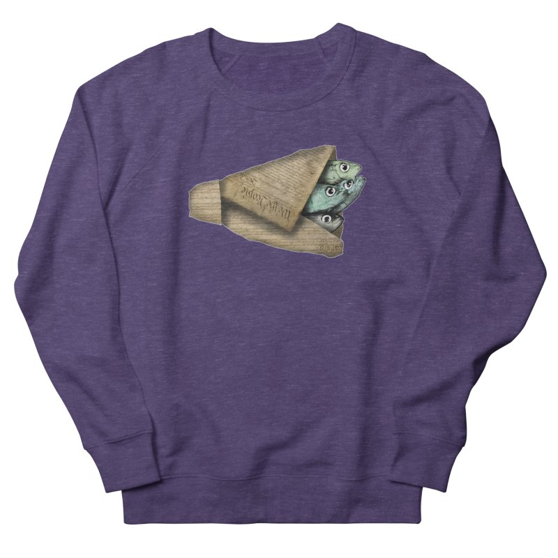 Dead fish wrapped in the constitution Women's Sweatshirt by Bad Otis Link's Artist Shop