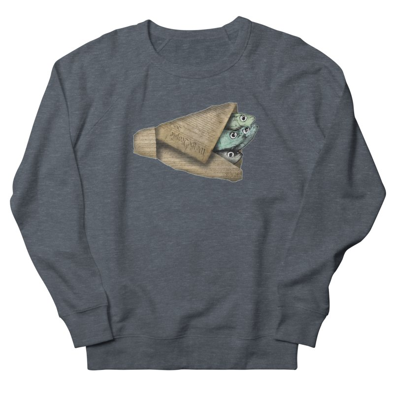 Dead fish wrapped in the constitution Men's Sweatshirt by Bad Otis Link's Artist Shop