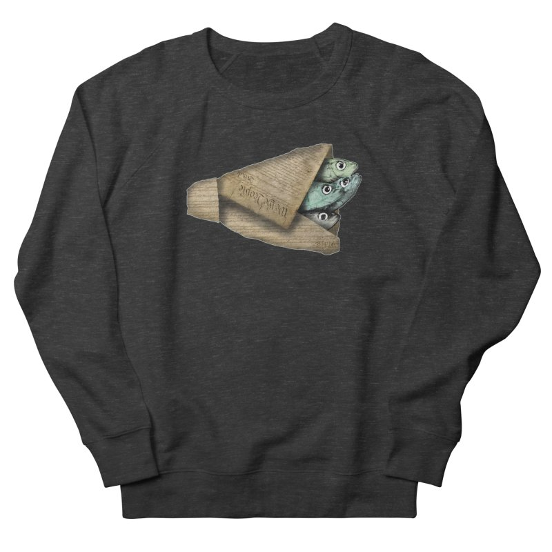 Dead fish wrapped in the constitution Men's French Terry Sweatshirt by Bad Otis Link's Artist Shop
