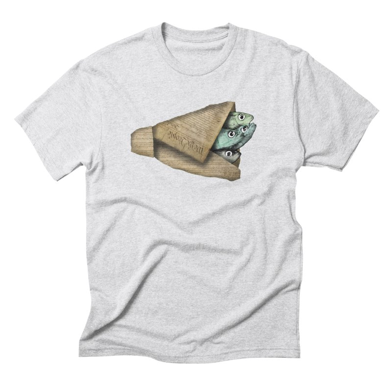 Dead fish wrapped in the constitution Men's Triblend T-Shirt by Bad Otis Link's Artist Shop