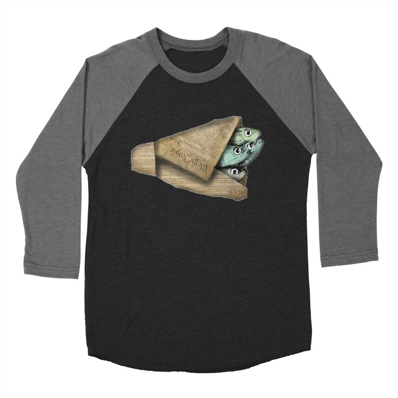 Dead fish wrapped in the constitution Women's Baseball Triblend Longsleeve T-Shirt by Bad Otis Link's Artist Shop