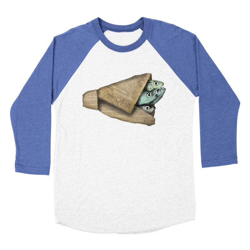 Dead fish wrapped in the constitution Men's Baseball Triblend Longsleeve T-Shirt by Bad Otis Link's Artist Shop