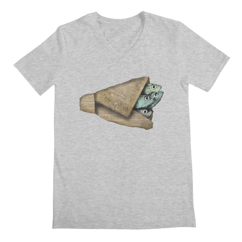 Dead fish wrapped in the constitution Men's V-Neck by Bad Otis Link's Artist Shop