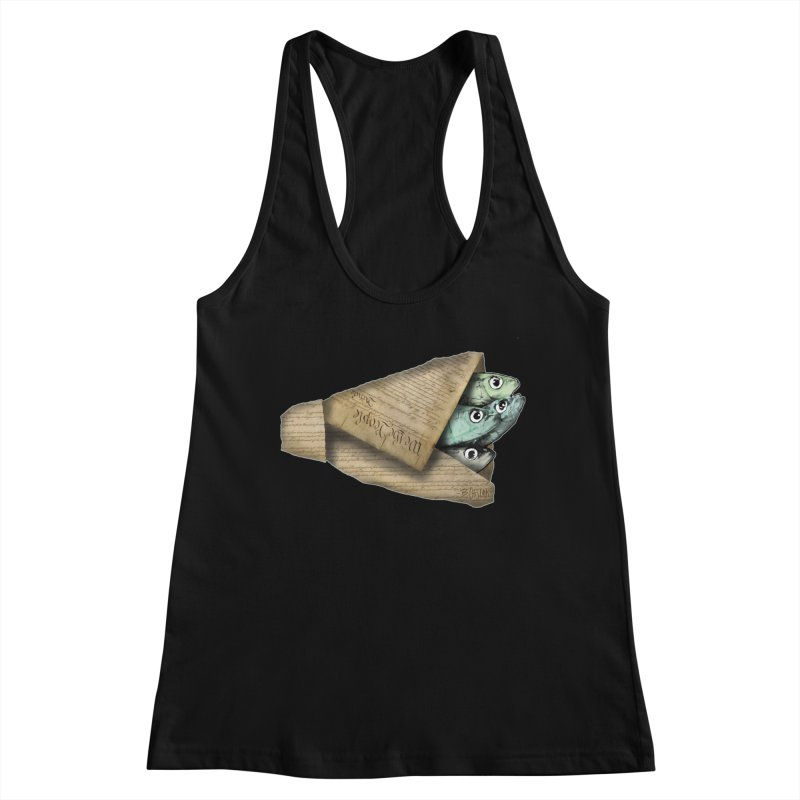 Dead fish wrapped in the constitution Women's Tank by Bad Otis Link's Artist Shop