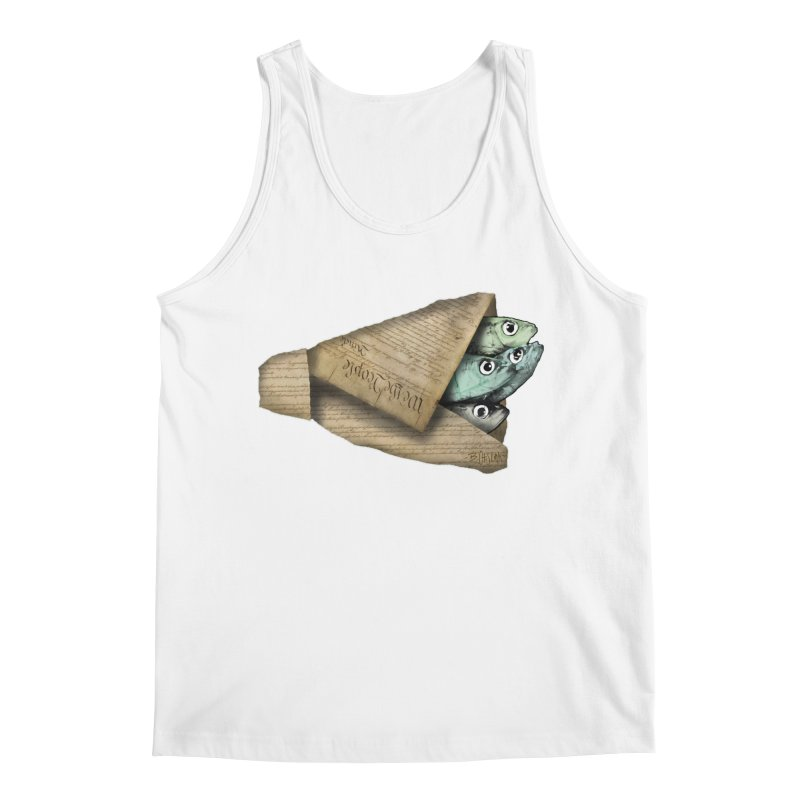 Dead fish wrapped in the constitution Men's Tank by Bad Otis Link's Artist Shop