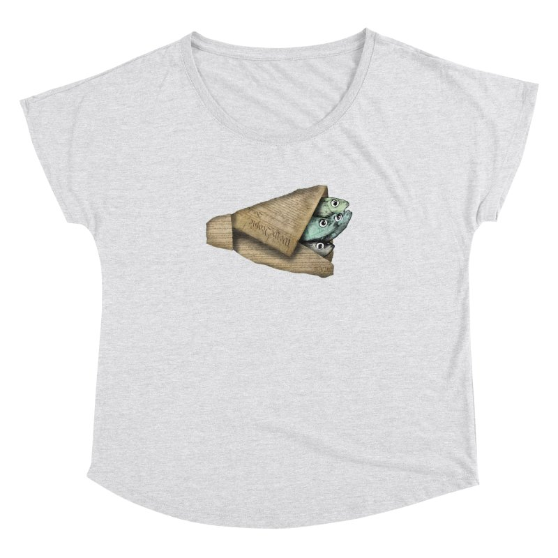 Dead fish wrapped in the constitution Women's Dolman Scoop Neck by Bad Otis Link's Artist Shop