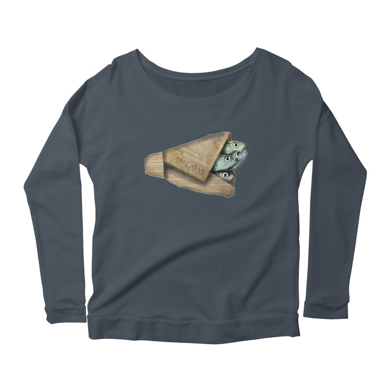 Dead fish wrapped in the constitution Women's Scoop Neck Longsleeve T-Shirt by Bad Otis Link's Artist Shop