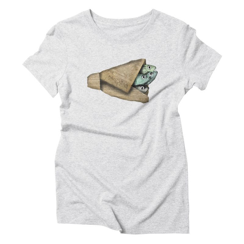 Dead fish wrapped in the constitution Women's T-Shirt by Bad Otis Link's Artist Shop