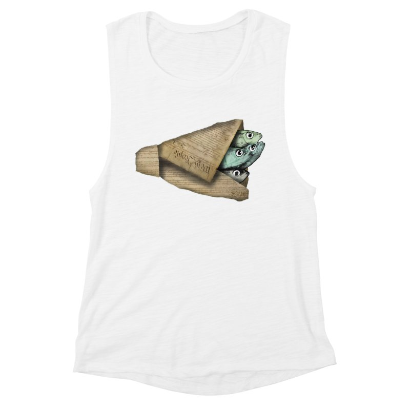 Dead fish wrapped in the constitution Women's Muscle Tank by Bad Otis Link's Artist Shop