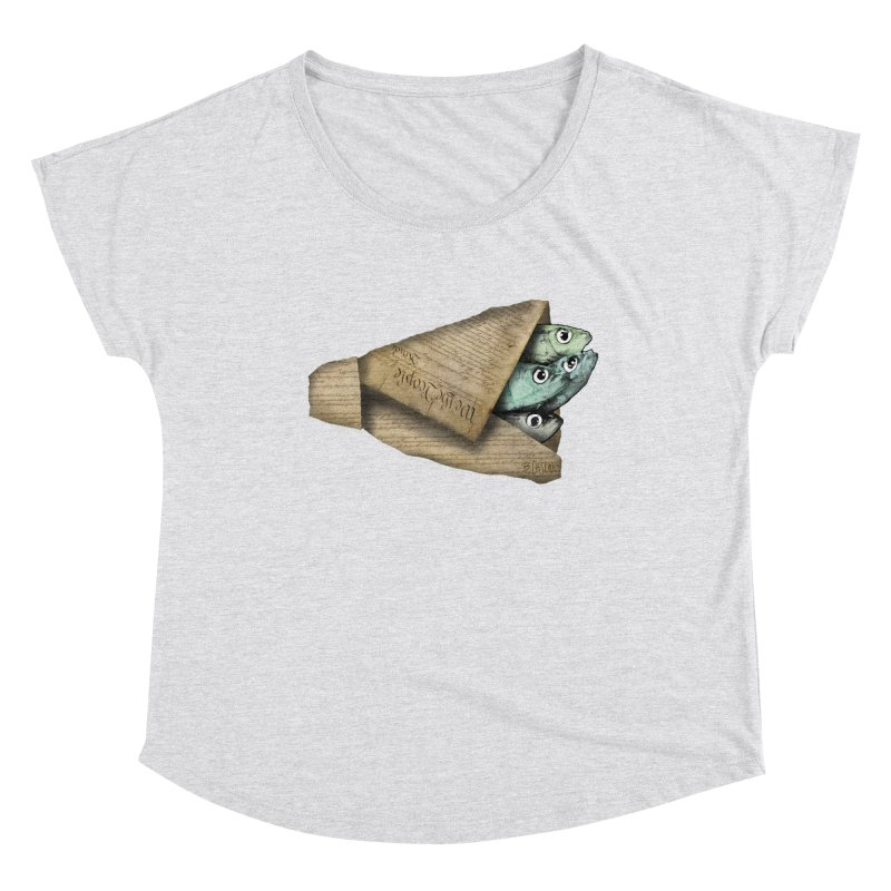 Dead fish wrapped in the constitution Women's Scoop Neck by Bad Otis Link's Artist Shop