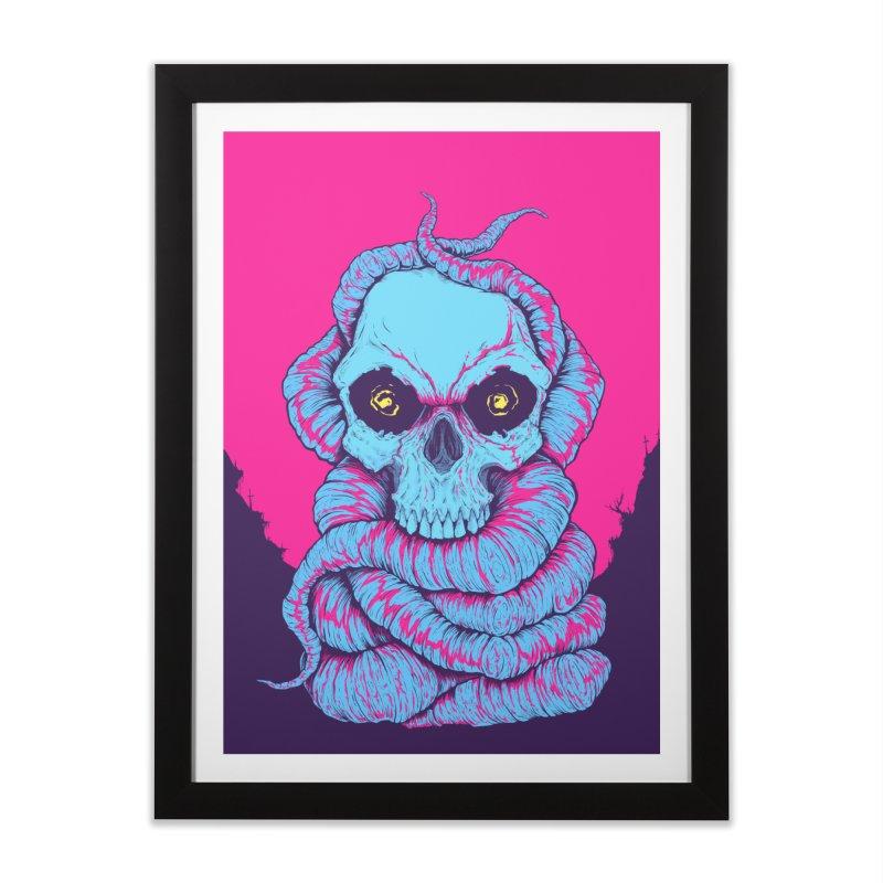 Skull Variations 2018.1 Home Framed Fine Art Print by Bad Robot Brain Shoppe