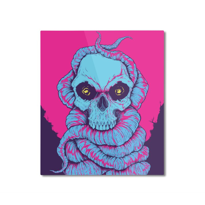 Skull Variations 2018.1 Home Mounted Aluminum Print by Bad Robot Brain Shoppe