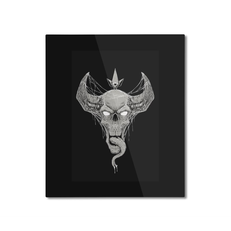 Waking the Daemon Home Mounted Aluminum Print by Bad Robot Brain Shoppe