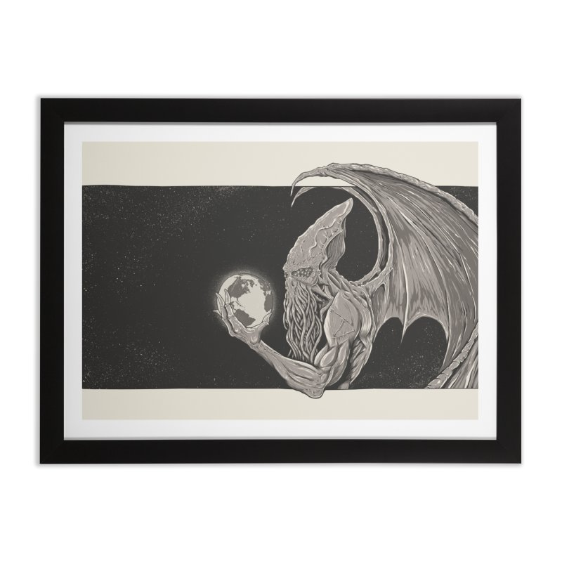 Cthulhu: The Conqueror Home Framed Fine Art Print by Bad Robot Brain Shoppe