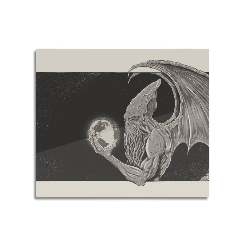 Cthulhu: The Conqueror Home Mounted Aluminum Print by Bad Robot Brain Shoppe