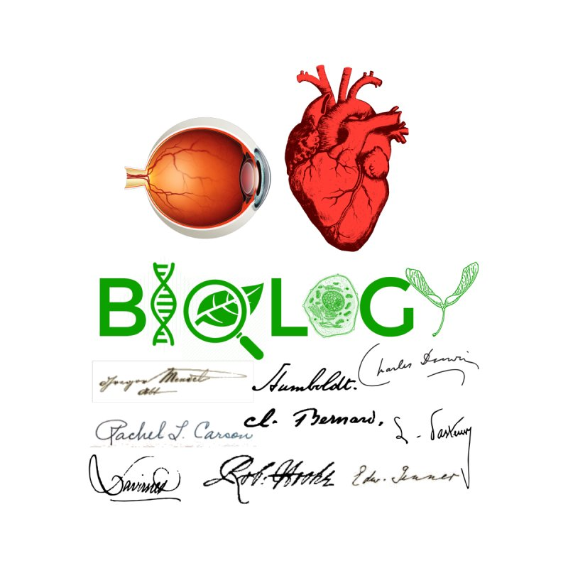 I Heart Biology with signatures by Bagayogo Tees